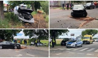 Wypadek na Poznańskiej, zderzyły się dwa auta. Droga jest całkowicie zablokowana